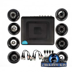 kit de cctv con 8 cámaras analógicas mini domo