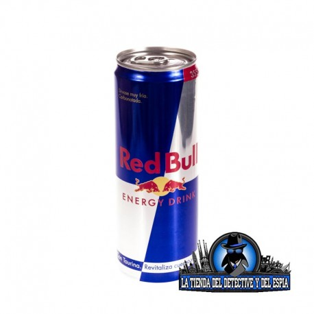 lata red bull hueca